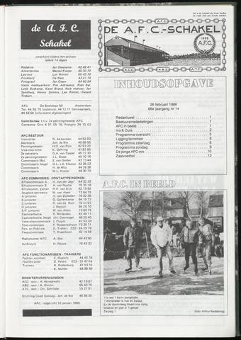 Schakels (clubbladen) 1986-02-26