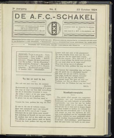 Schakels (clubbladen) 1924-10-23