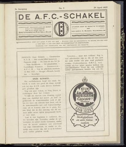 Schakels (clubbladen) 1927-04-29