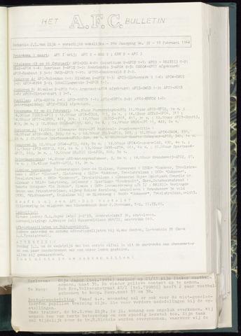 Bulletins (vnl. opstellingen) 1964-02-12