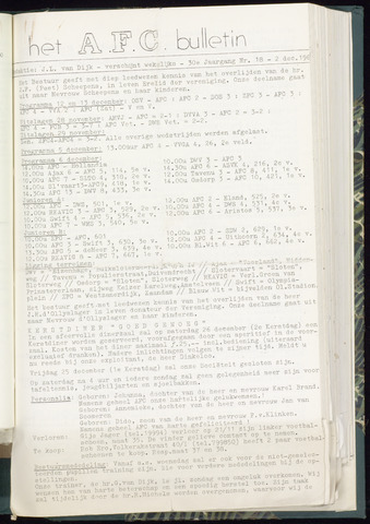 Bulletins (vnl. opstellingen) 1964-12-02