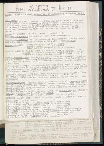 Bulletins (vnl. opstellingen) 1964-08-19