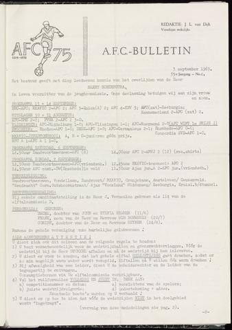 Bulletins (vnl. opstellingen) 1969-09-03