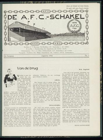 Schakels (clubbladen) 1966-08-01