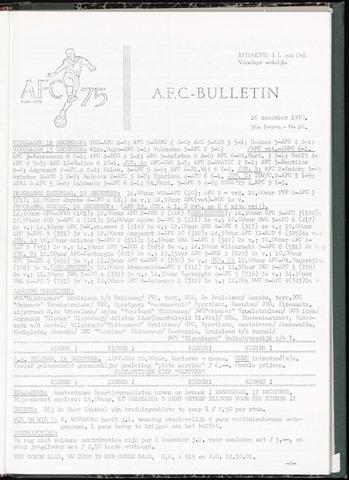 Bulletins (vnl. opstellingen) 1970-12-16