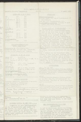 Bulletins (vnl. opstellingen) 1958-04-08