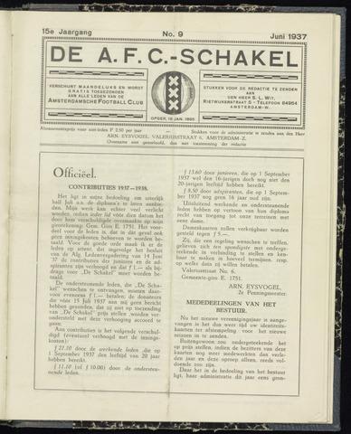 Schakels (clubbladen) 1937-06-01