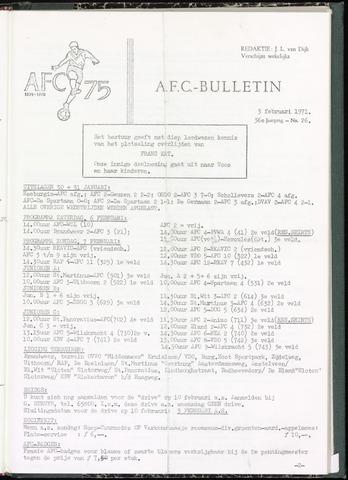 Bulletins (vnl. opstellingen) 1971-02-03