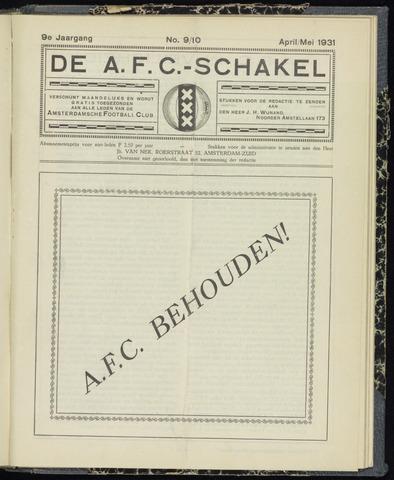 Schakels (clubbladen) 1931-04-01