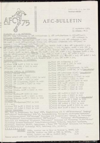 Bulletins (vnl. opstellingen) 1969-09-17