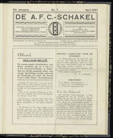 Schakels (clubbladen) 1937-04-01