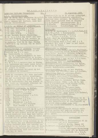 Bulletins (vnl. opstellingen) 1950-08-23