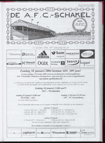 Schakels (clubbladen) 2004-01-14