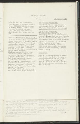 Bulletins (vnl. opstellingen) 1958-08-12