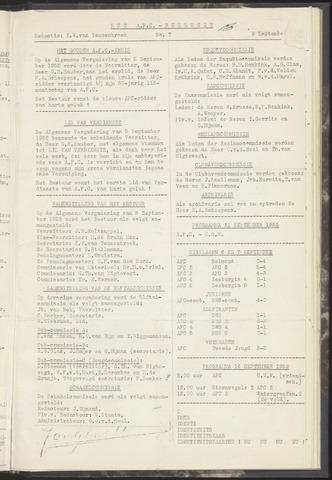 Bulletins (vnl. opstellingen) 1952-09-09