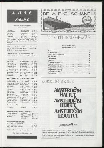Schakels (clubbladen) 1985-12-18