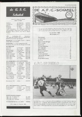 Schakels (clubbladen) 1985-09-11
