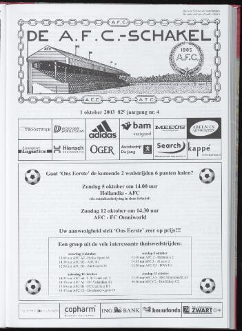 Schakels (clubbladen) 2003-10-01