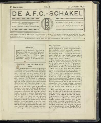 Schakels (clubbladen) 1924