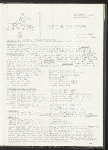 Bulletins (vnl. opstellingen) 1971-10-20
