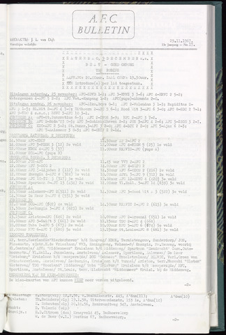 Bulletins (vnl. opstellingen) 1967-11-29