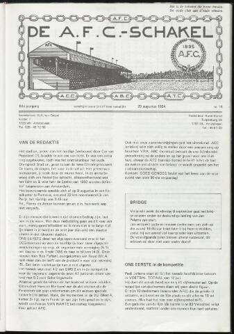 Schakels (clubbladen) 1984-08-29