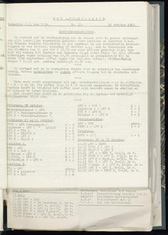 Bulletins (vnl. opstellingen) 1962-10-10