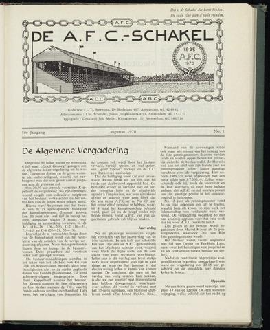 Schakels (clubbladen) 1970-08-01