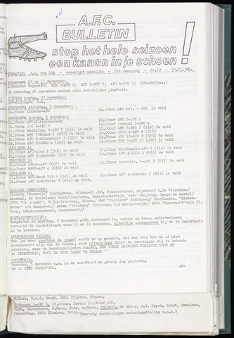 Bulletins (vnl. opstellingen) 1966-11-30