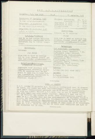 Bulletins (vnl. opstellingen) 1963-08-15