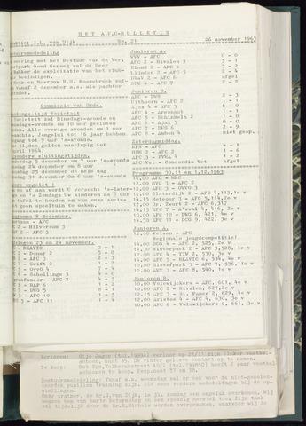 Bulletins (vnl. opstellingen) 1963-11-20