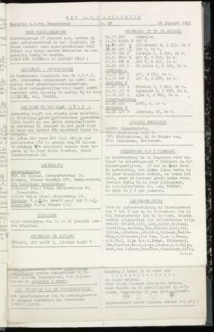Bulletins (vnl. opstellingen) 1959-01-13