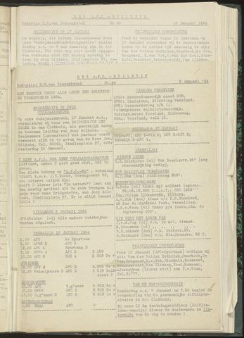 Bulletins (vnl. opstellingen) 1954-01-05