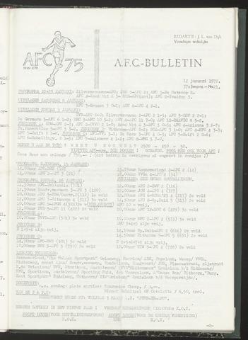 Bulletins (vnl. opstellingen) 1972-01-12