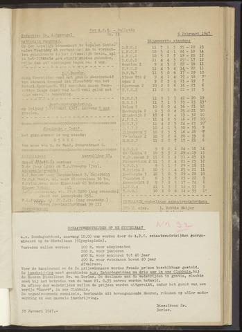 Bulletins (vnl. opstellingen) 1947-02-06