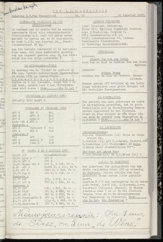 Bulletins (vnl. opstellingen) 1959-12-29