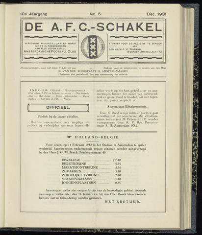 Schakels (clubbladen) 1931-12-01