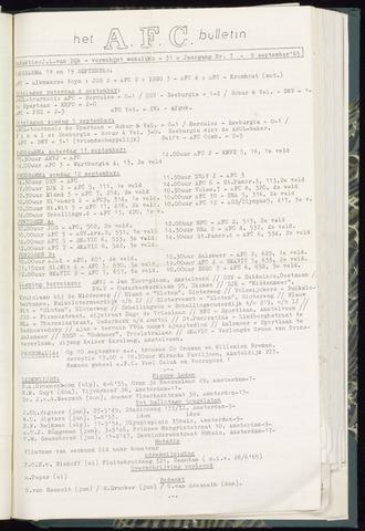 Bulletins (vnl. opstellingen) 1965-09-08