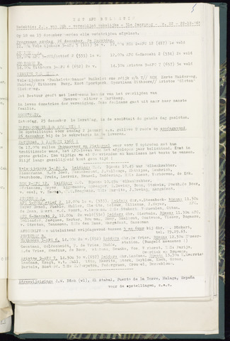 Bulletins (vnl. opstellingen) 1965-12-22