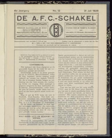 Schakels (clubbladen) 1928-07-31