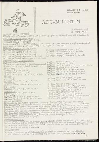 Bulletins (vnl. opstellingen) 1969-09-10