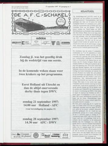Schakels (clubbladen) 1997-09-17