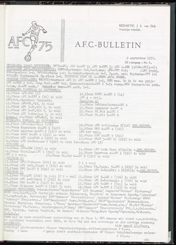 Bulletins (vnl. opstellingen) 1970-09-09