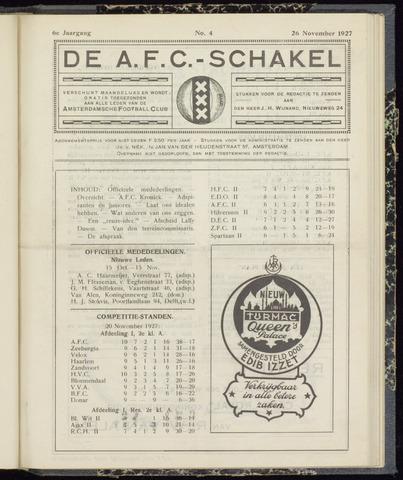 Schakels (clubbladen) 1927-11-26