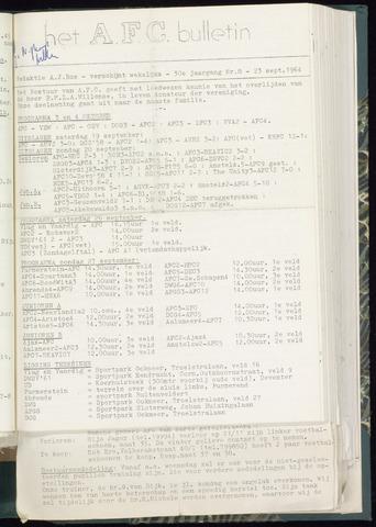 Bulletins (vnl. opstellingen) 1964-09-23