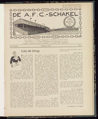 Schakels (clubbladen) 1961-08-01