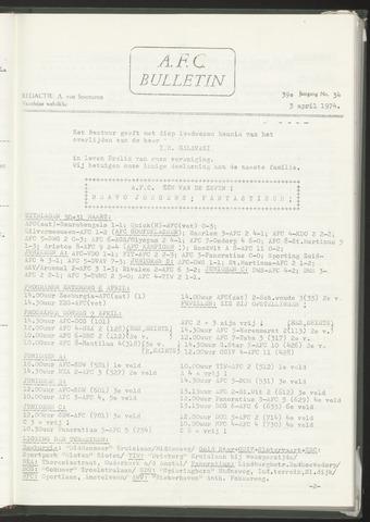 Bulletins (vnl. opstellingen) 1974-04-03