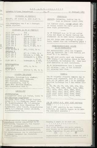 Bulletins (vnl. opstellingen) 1959-02-11