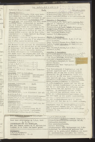 Bulletins (vnl. opstellingen) 1949-09-03