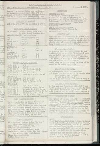 Bulletins (vnl. opstellingen) 1960-01-05